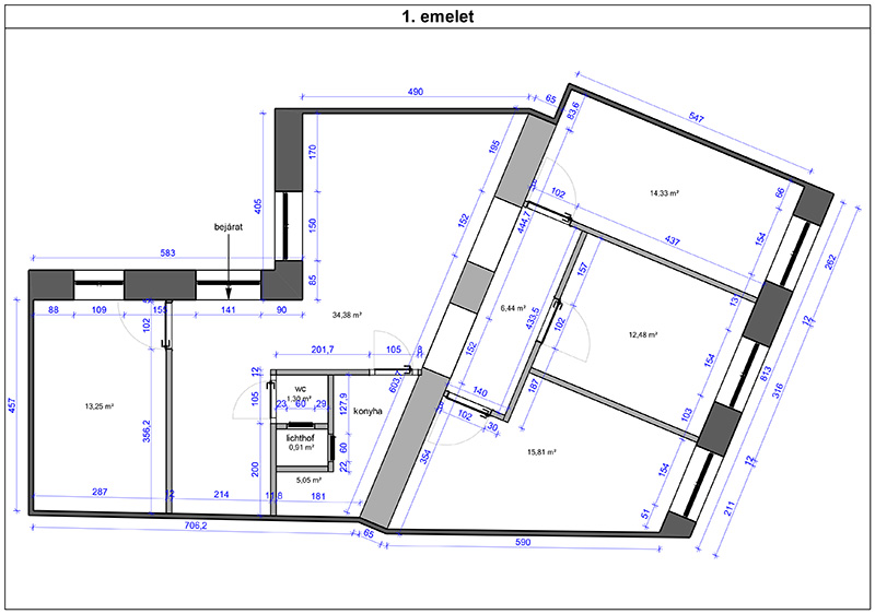 Alaprajz, 1. emelet