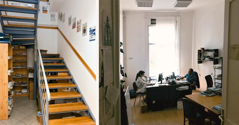Lépcső, iroda